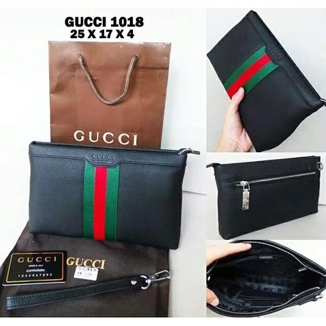 Jual Handbag Tas Cowok Pria Import Kulit Gucci 1018 123abc Tokopedia