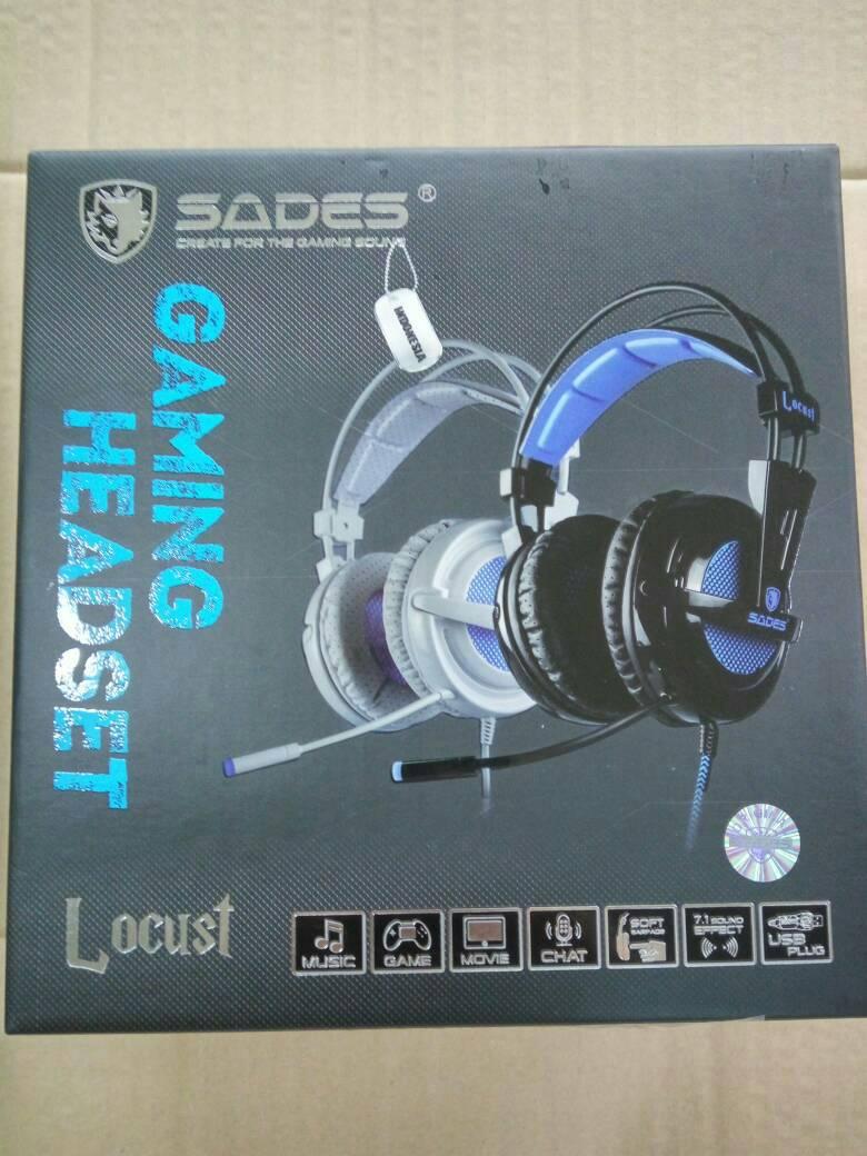 Jual Sades Locust A6 Sa 704 Headset Gaming 71 Led Satu Tech Tokopedia