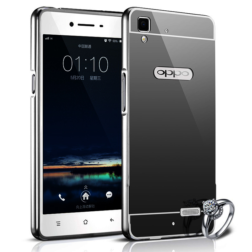 Jual Oppo Neo 9 A37 Bumper Slide Mirror Case - HITAM - FINA Smart & Shoping