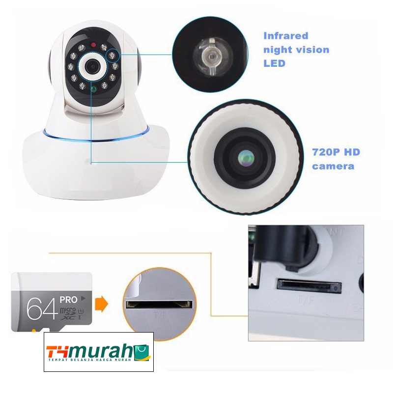 jual ip camera p2p support sd card 32 gb two way audio. Black Bedroom Furniture Sets. Home Design Ideas