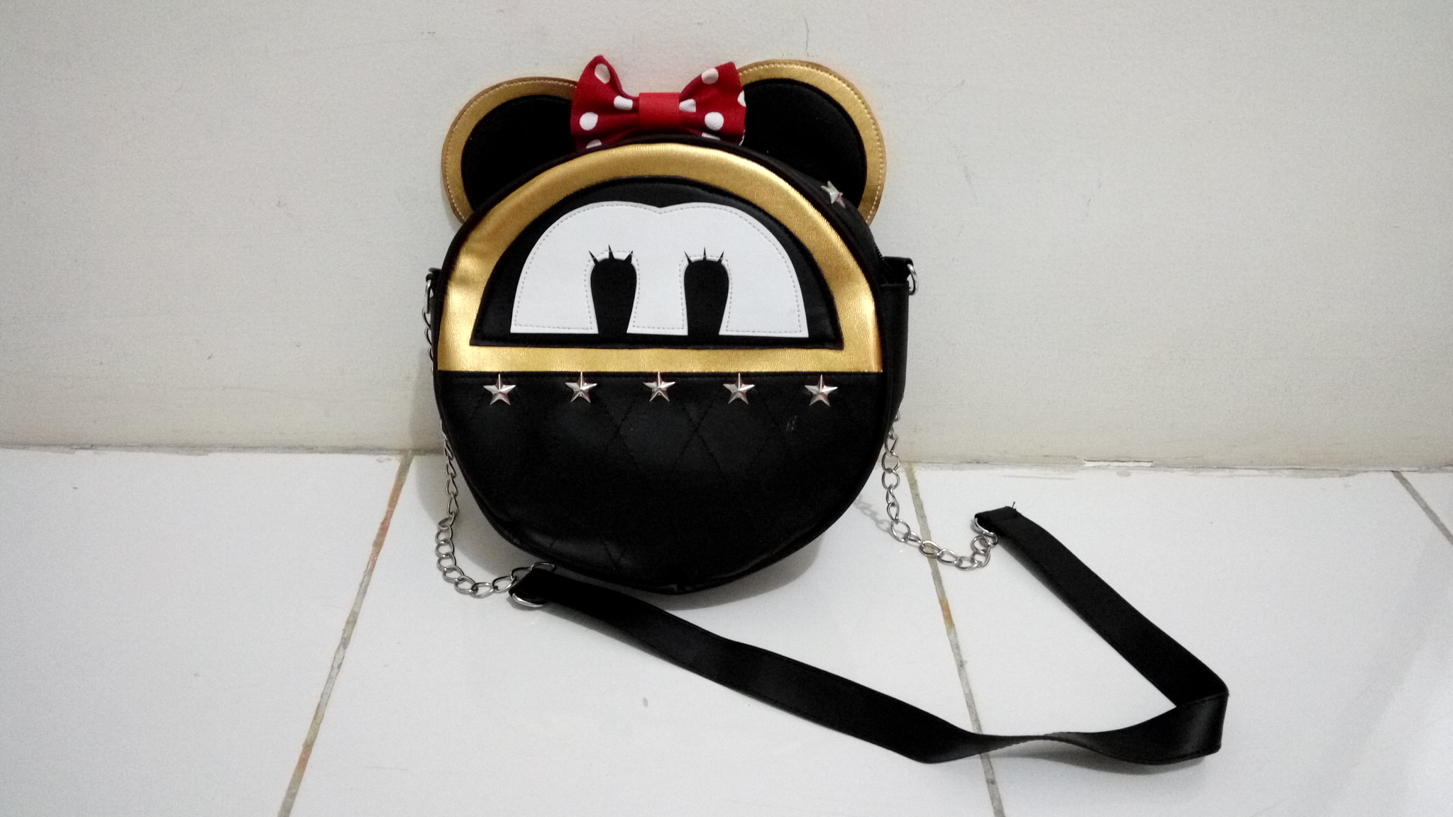 Tas / Bag Mickey Mouse Black Real Pic