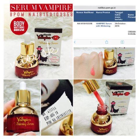 Best Price [ Bpom ] Serum Bpom Vampire ( Body Face Whitening Serum ) O