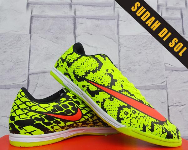 Sepatu Futsal-soccer-olahraga Nike Mercurial Superfly Snake Hijau