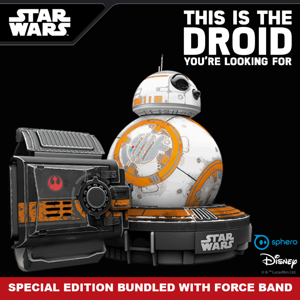 Jual Star Wars Bb 8 Special Edition With Force Band Bundle By Sphero Bb8 App Enabled Droid Opalicious Tokopedia
