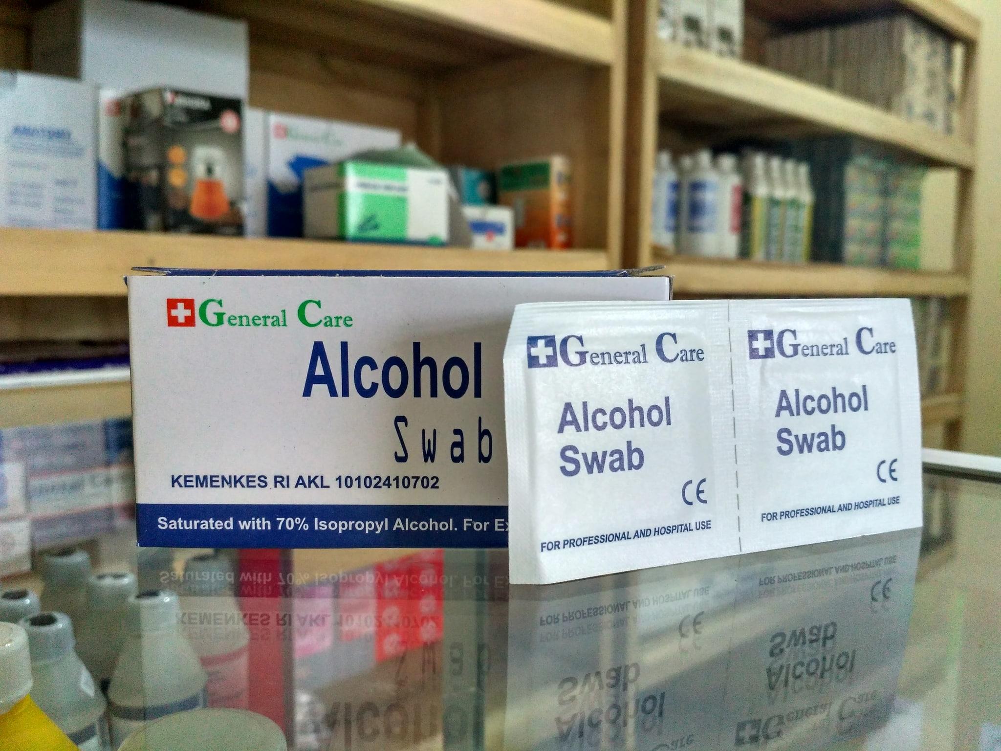 Jual Alkohol Swab Tissue Merk General Care Gloryamedica Tokopedia