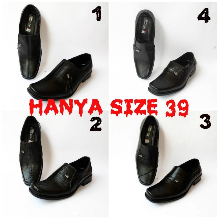 Jual Sepatu Pantofel Kerja Kantor Pria Formal Kulit Asli Crocodile Hitam -  Rumah Kulit Merchandise  9ff83a58dc