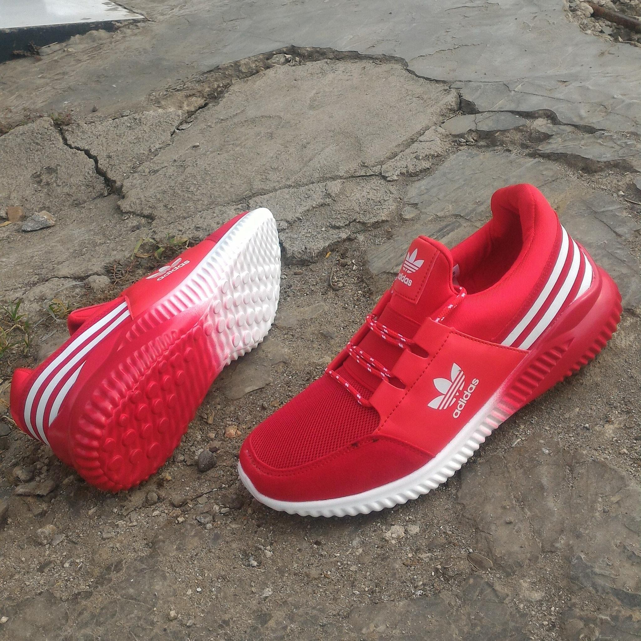 sepatu adidas running sport A5223 red new rilis