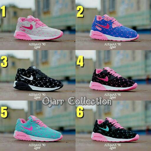 Sepatu Nike Airmax 90 Love Women Untuk Wanita Grade Ori Murah ... e6cd68e181
