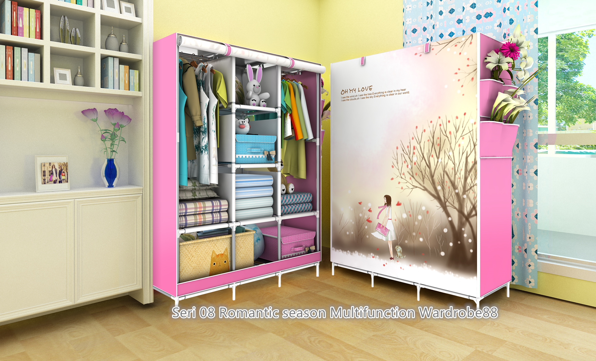 cover my furniture. Jual 08 ROMANTIC SEASON Lemari Pakaian Multifunction Wardrobe With Cover - Laris_88 Computer | Tokopedia My Furniture