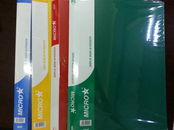 Clear Holder / Display Book 40 Pockets F4 MICROstar1034F Bagus Murah