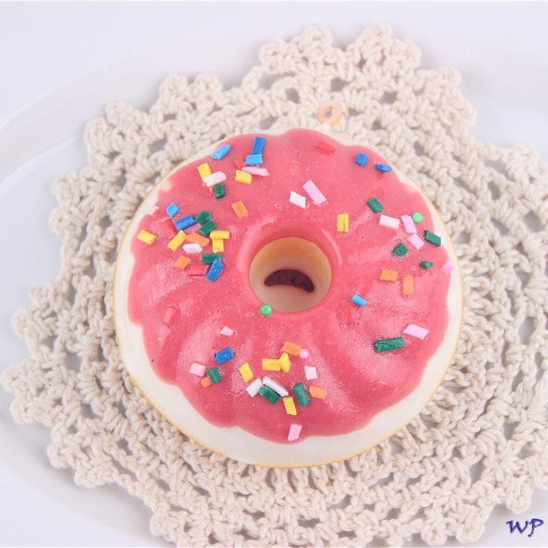 Gantungan kunci / Squishy kue donat merah terlaris