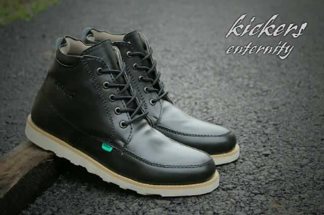 sepatu boot kickers eternity hitam