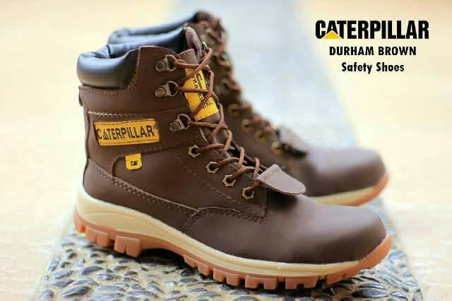 sepatu boot safety caterpillar durham coklat