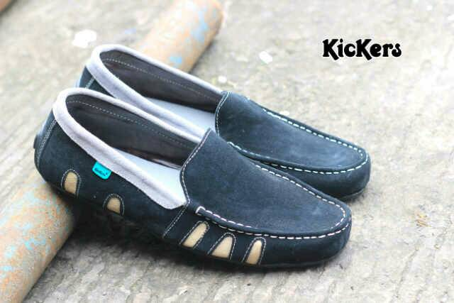 kickers bara black suede