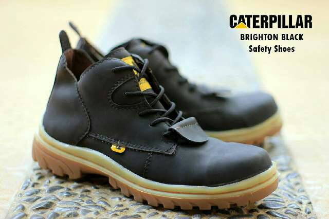 sepatu boot safety caterpillar brighton hitam