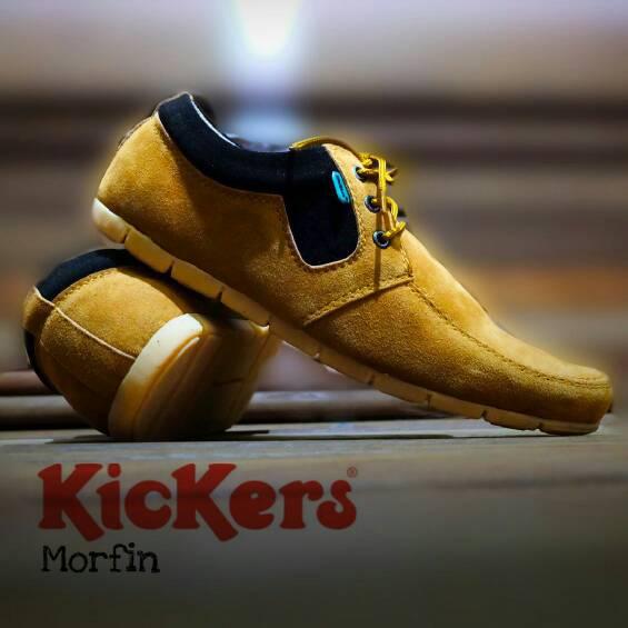 sepatu kickers morfhin tan suede