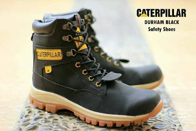 sepatu boot safety caterpillar durham hitam