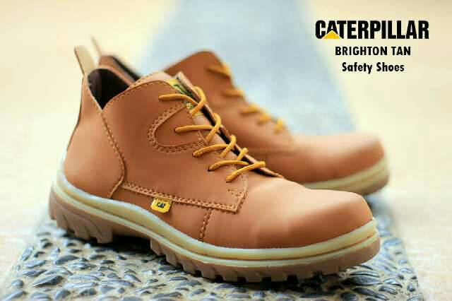 sepatu boot safety caterpillar brighton tan