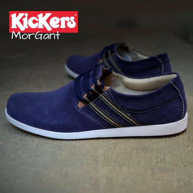 kickers morgant navy suede