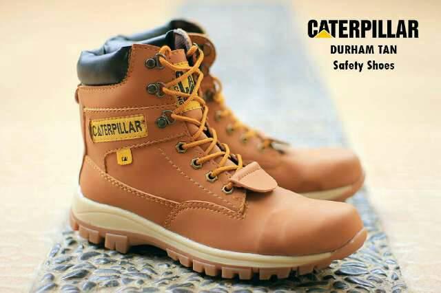 sepatu boot safety caterpillar durham tan