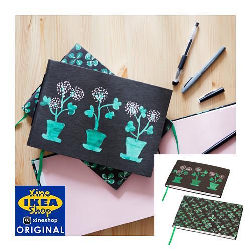 IKEA SALLSKAP Buku Tulis 18x26 Cm, Aneka Pola