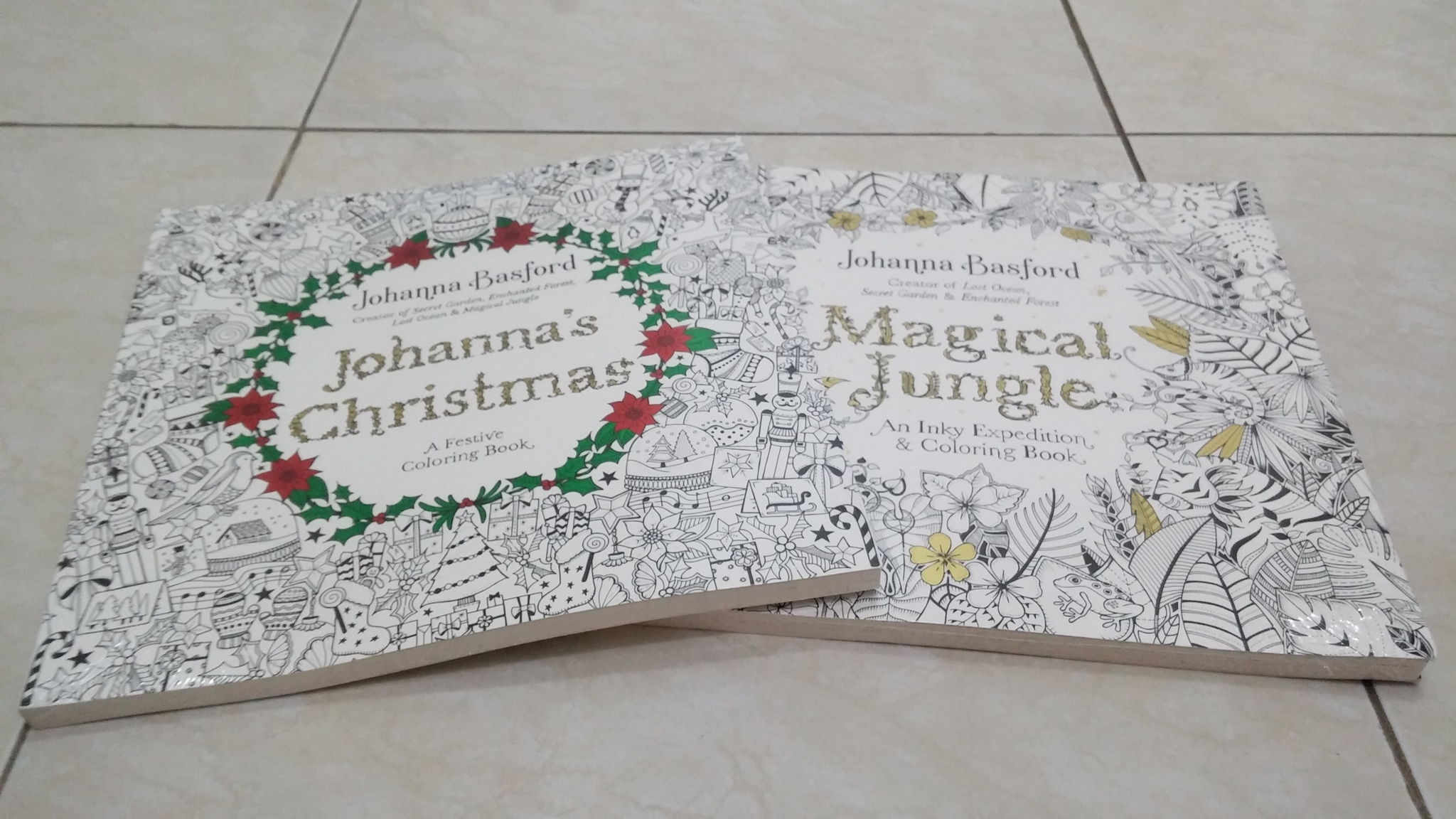 Jual Magical Jungle Coloring Book Or Johanna S Christmas