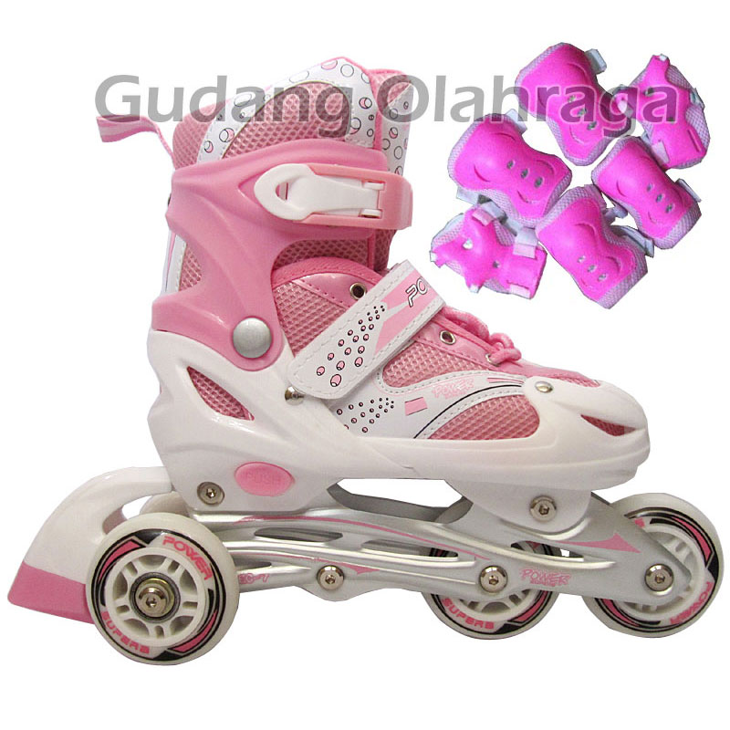 Jual Sepatu Roda Bajaj Pink + Deker   Pelindung Inline Skate Satu ... d490917ec5