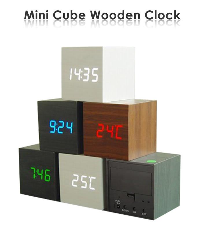 PROMO Wooden Digital Clock / Jam Digital LARIS