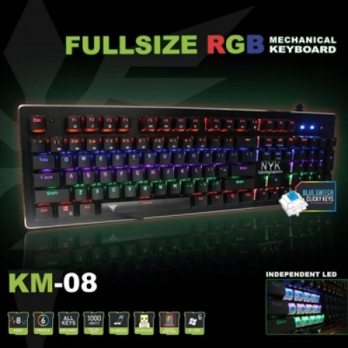 KEYBOARD GAMING NYK MECHANICAL FULLSIZE NYK K-M08