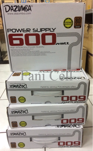 Power Supply Dazumba 600watt 80 + Lifetime Warranty