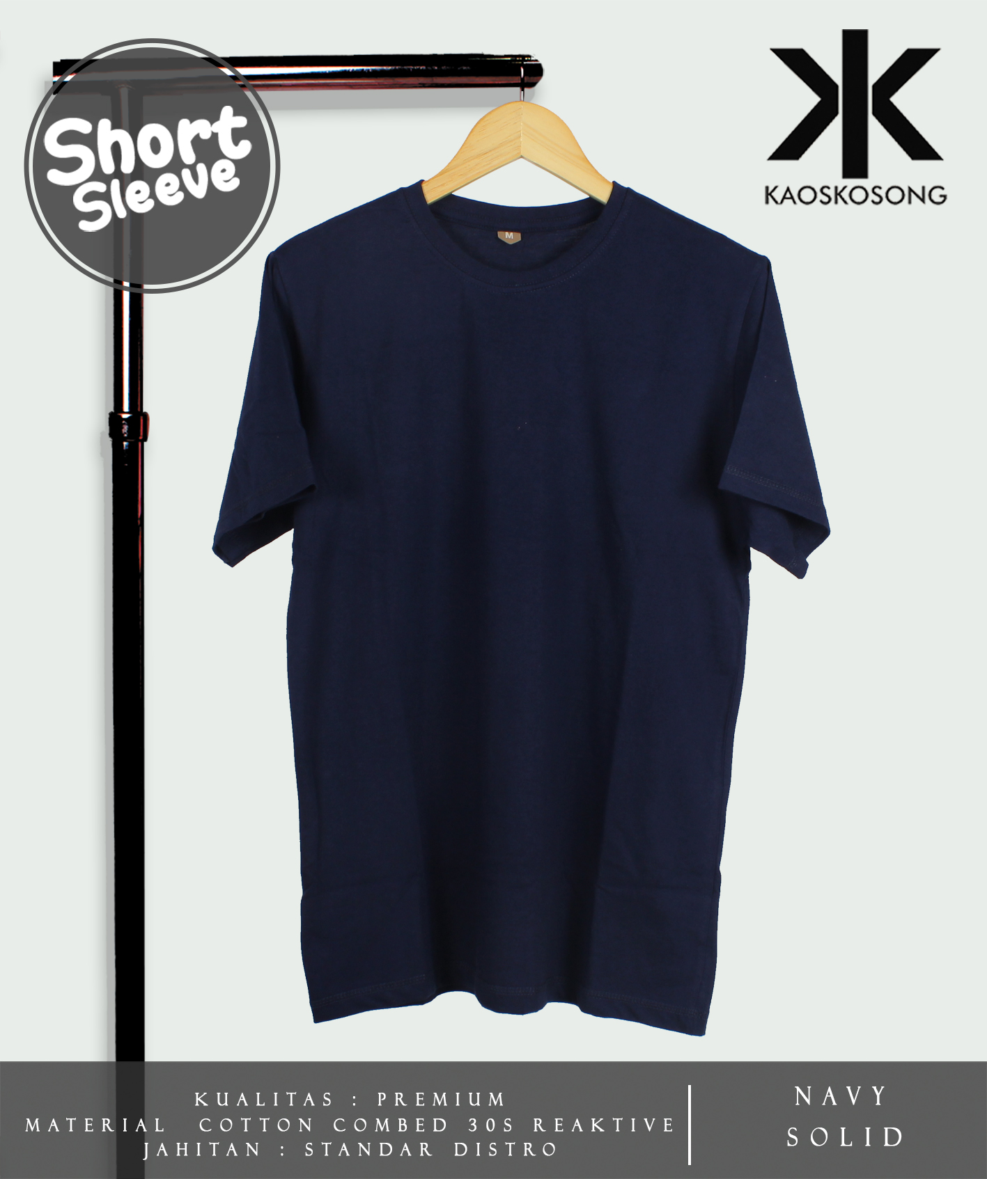 Jual Kaos Polos Navy Solid Cotton Combed 30s Soft Reaktif Blank Misty Hat Tokopedia