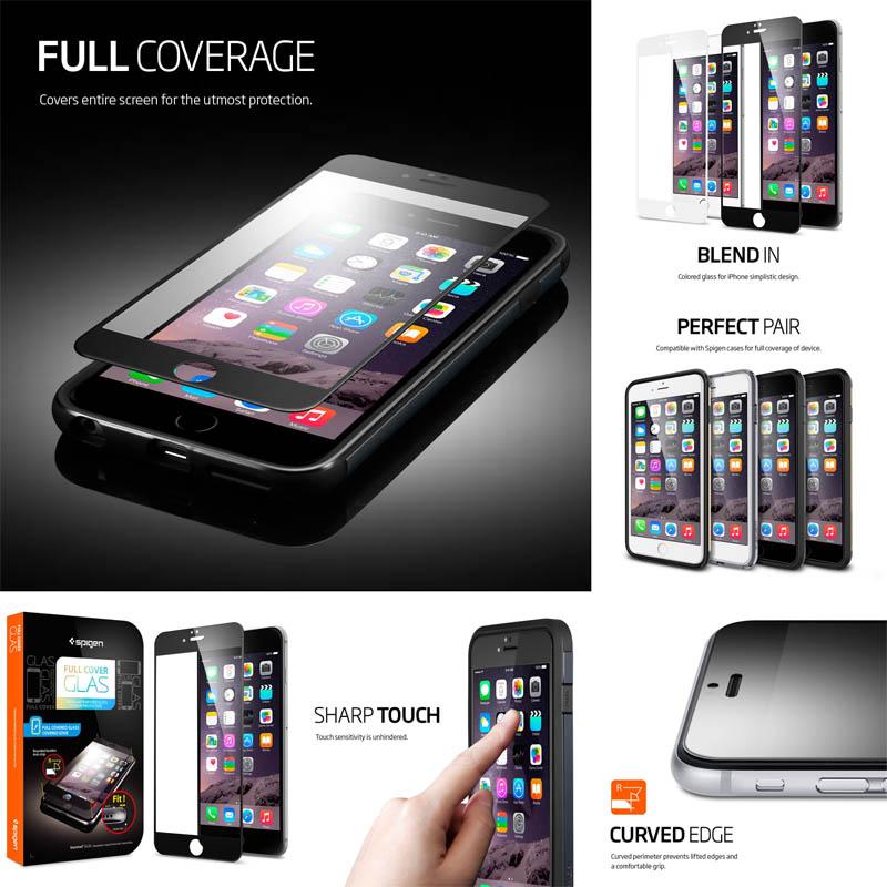 Spigen Full Cover Tempered Glass iPhone 6 Plus - 6S Plus