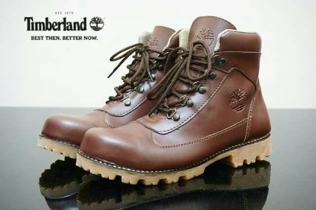 sepatu boot safety timberland ring brown