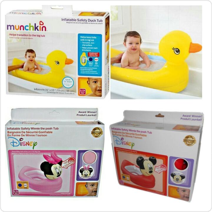 Jual munchkin baby bath tub duck bebek bak mandi bayi mickey minnie balon - Lullaby Babyshop