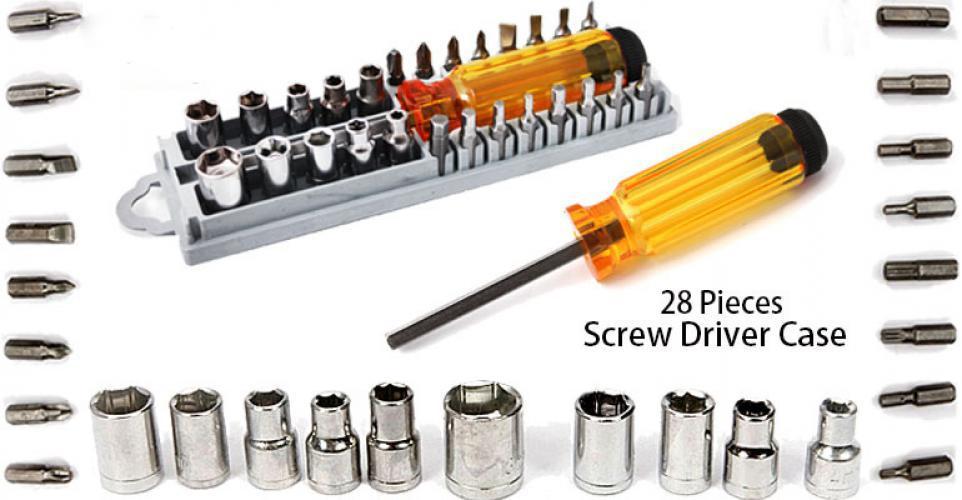 28 Pcs Precision Screwdriver Set Case / Obeng Set