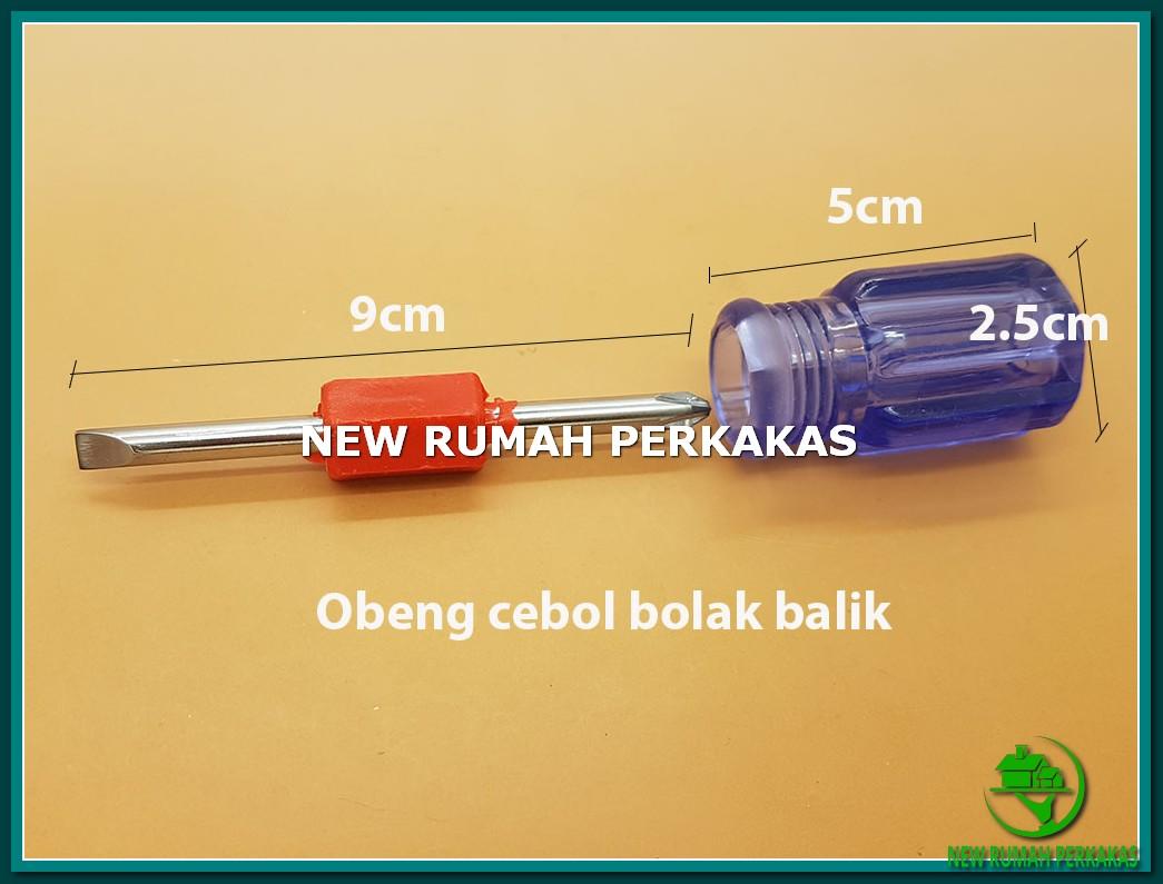 Obeng Cebol Transparan Bolak Balik (Plus & Minus) Wit Limited