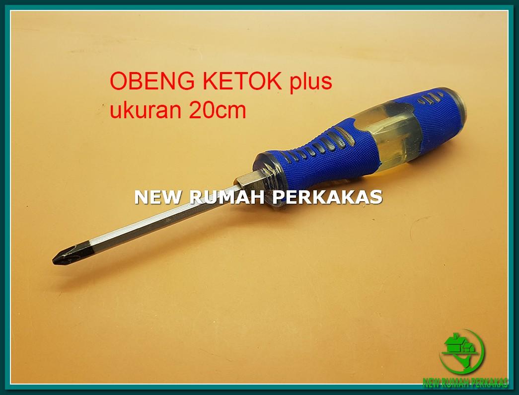 """Obeng Ketok 8"""" (20 Cm) Mata PLUS (+) Murah"""
