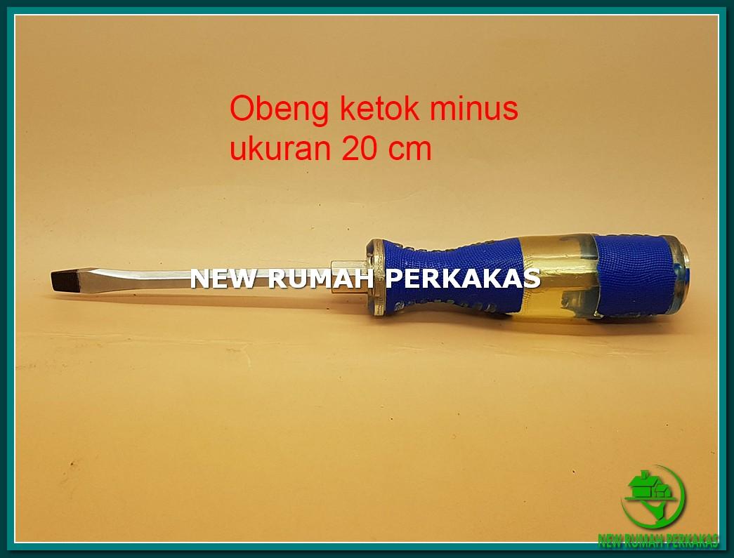 """Obeng Ketok 8"""" (20 Cm) Mata MINUS (-) Limited"""