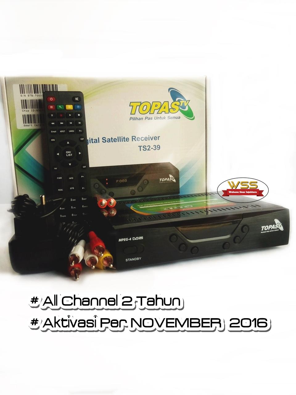 DECODER TOPAS TV HD - ALL CHANNEL 2 TAHUN AKTIVASI NOVEMBER 2016