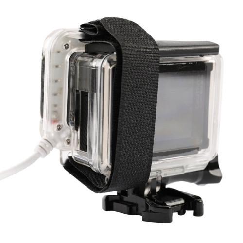 USB LED Light Lens Ring For GoPro Hero 4/3 + Frame .