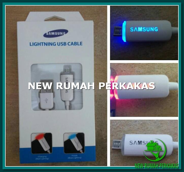 Lightning Cable USB (Samsung) / Smart Kabel USB LED 1 M Berkualitas