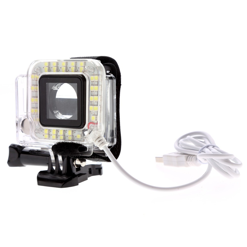USB LED Light Lens Ring For GoPro Hero 4/3 + Frame Limited