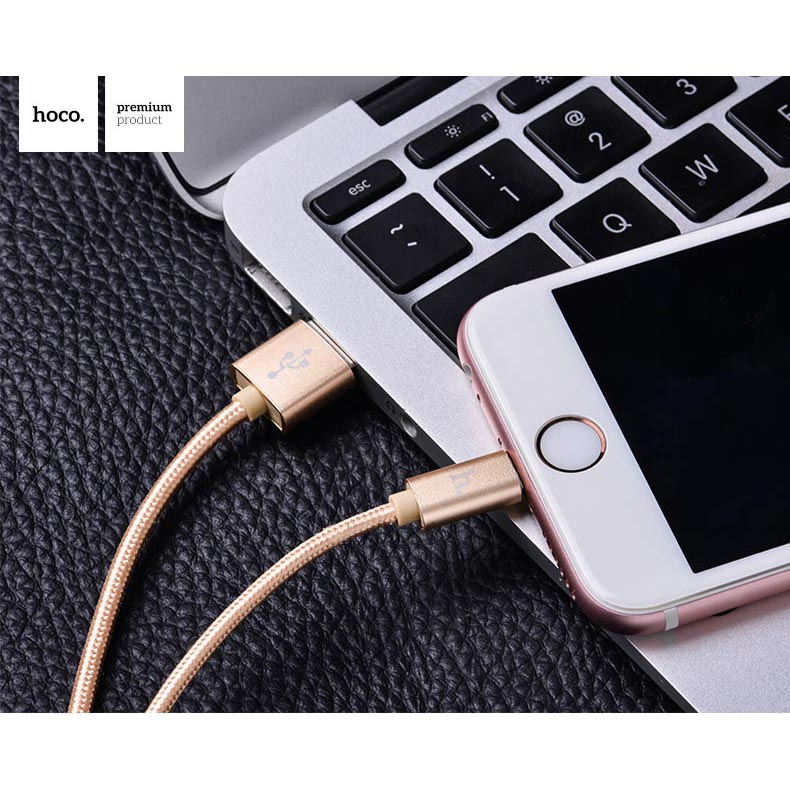 Hoco X2 Lightning Braided Cable For IPhone / IPad Berkualitas