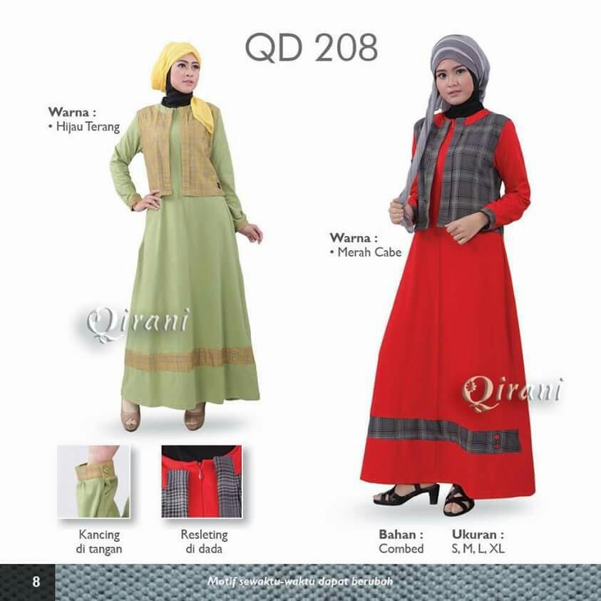Jual Diskon 20 Dress Gamis Qirani Model Qd 208 Gudang Diskon