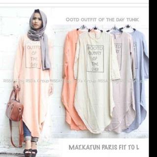 OOTD outfit Katun/blouse/tunik/atasan/top muslim/hijab
