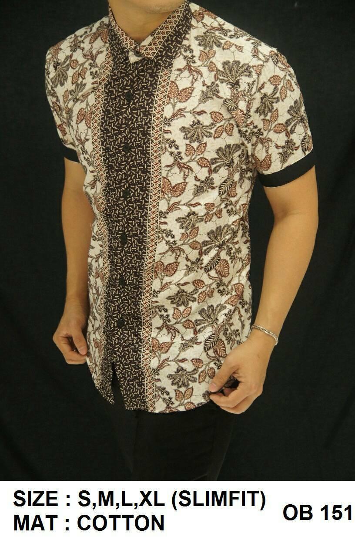 Baju Batik - Kemeja Slim Fit Motif Keren OB151
