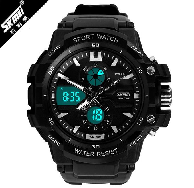 Jam Tangan Pria SKMEI Tentara Sport LED Watch Water Resistant 5ATM