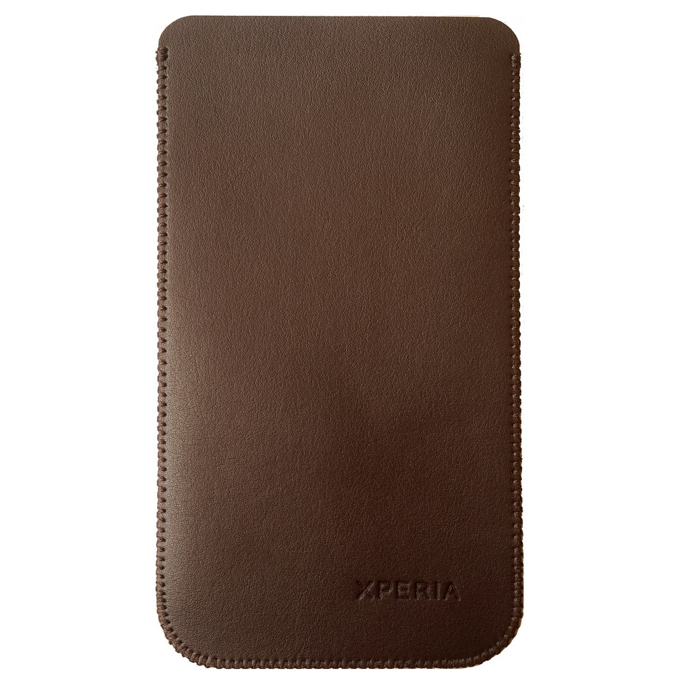 Primary Original For Sony Z5 Leather Pouch - Cokelat