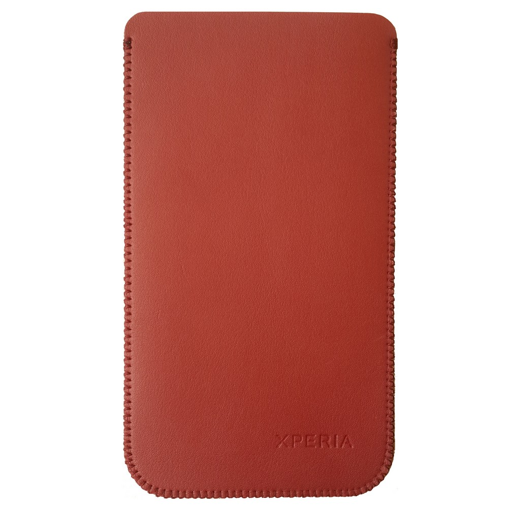 Primary Original For Sony Z5 Premium Leather Pouch - Merah
