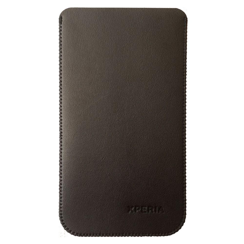 Primary Original For Sony Z5 Premium Leather Pouch - Hitam